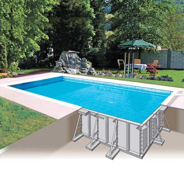 Types de piscine for Peut on enterrer une piscine hors sol en bois